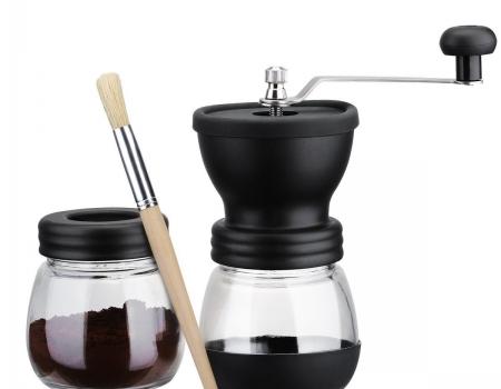 SeaSea Manual Coffee Grinder with Storage Jar