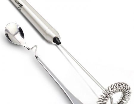 1Easylife H422 Stainless Steel Handheld Electric Milk Frother