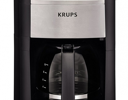 KRUPS KM785D50 Automatic Programmable Grind and Brew Coffee Maker with Burr Grinder
