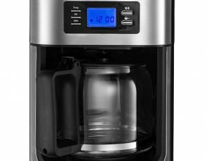 Gourmia GCM4700 Coffee Maker with Burr Grinder